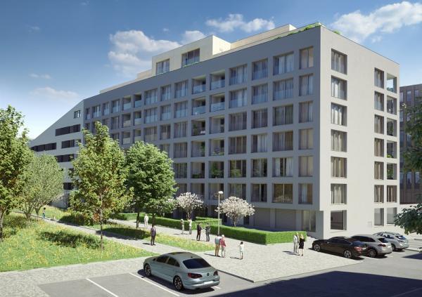 Nové bydlení v karlínském Portu nabízí Skanska