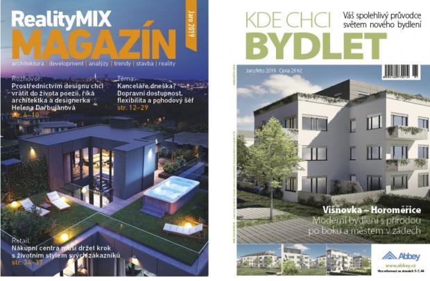Jarní vydání tištěného katalogu KDE CHCI BYDLET a  RealityMIX MAGAZÍNU vychází již tento týden