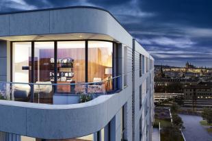 Na nejvyšším patře Rezidence Churchill byla slavnostně vztyčena glajcha