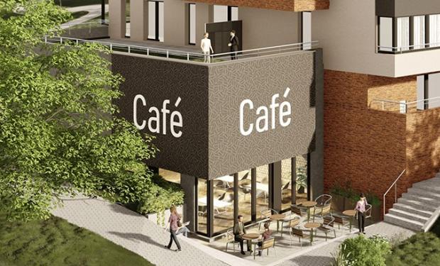 V projektu vznikne příjemná kavárna s venkovním posezením Zdroj: Central Group