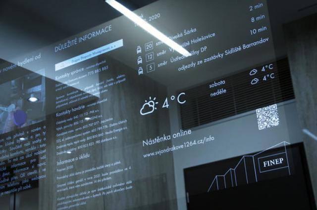 Obyvatelé rezidenčního projektu společnosti Finep mohou ve svém domě čerpat informace z chytrého zrcadla
