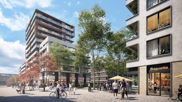 V přízemí domů budou prostory pro obchody, služby, restaurace a kavárny